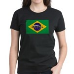 Brazil Flag Women's Dark T-Shirt