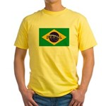 Brazil Flag Yellow T-Shirt