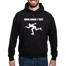 Custom Speed Skater Silhouette Hoodie