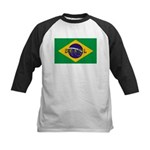Brazil Flag Kids Baseball Jersey