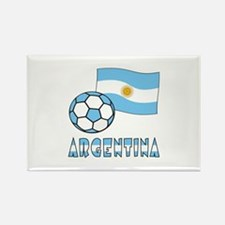 Argentine Flag and Soccer Ball Magnets