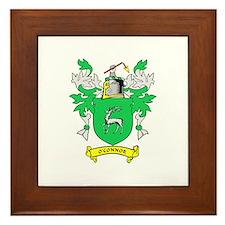 O'CONNOR Coat of Arms Framed Tile