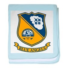 Cool Blue angels baby blanket