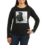 Dun Cap Flight Women's Long Sleeve Dark T-Shirt