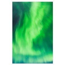 Northern Lights Above The Chena Lakes Recreation A Poster