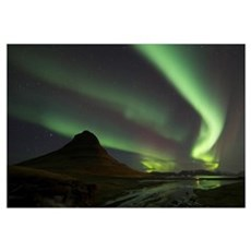 Northern Lights Over Kirkjufell, Grundarfjorthur,  Canvas Art