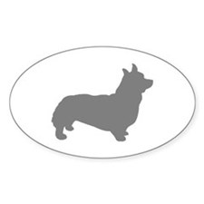 corgi gray 1C Decal