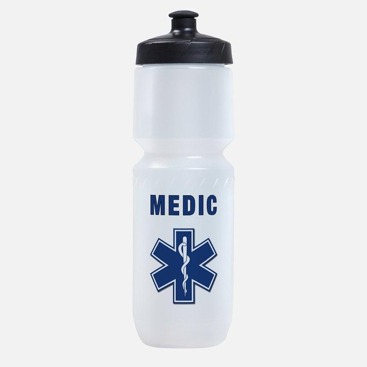 Cute Paramedic firefighter Sports Bottle