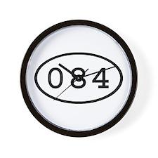 084 Oval Wall Clock