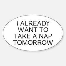 I Nap Sticker (Oval)
