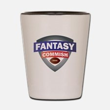 Fantsy Commish Shield Shot Glass