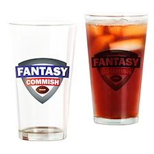 Cute Fantasy football commish Drinking Glass