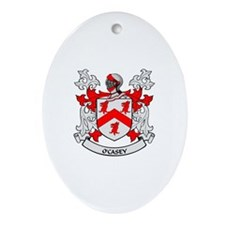 O'CASEY 2 Coat of Arms Oval Ornament