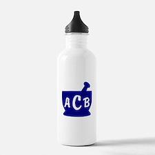 Blue Monogram Mortar a Water Bottle