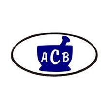 Blue Monogram Mortar and Pestle Patches