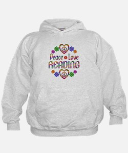 Peace Love Reading Hoodie