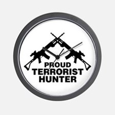 Proud Terrorist Hunter Wall Clock