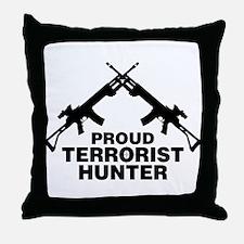 Proud Terrorist Hunter Throw Pillow