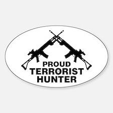 Proud Terrorist Hunter Oval Decal