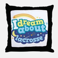 Lacrosse Sports dream Throw Pillow