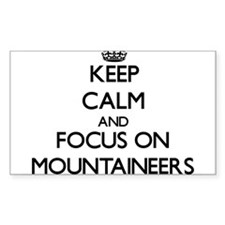 Keep Calm and focus on Mountaineers Decal