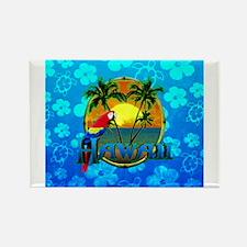 Hawaii Sunset Blue Honu Magnets