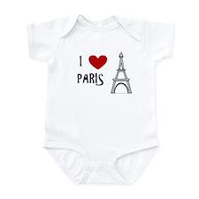 I Love Paris Eiffel Tower Onesie Body Suit