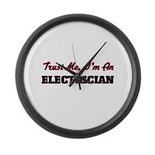 Cute Electrician Large Wall Clock