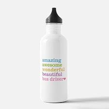 Unique School bus driver Water Bottle