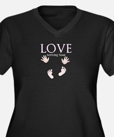 Love Arriving Soon by Leslie Harlow Plus Size T-Sh