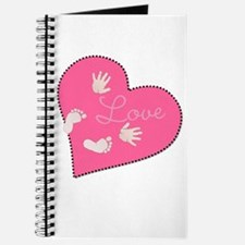 Love with Baby Hand and Footprints Journal