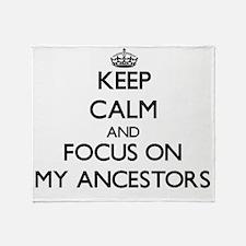 Unique Ancestors Throw Blanket