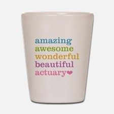 Funny Actuary Shot Glass