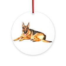 German Shepard Dog Ornament (Round)