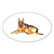 German Shepard Dog Oval Decal