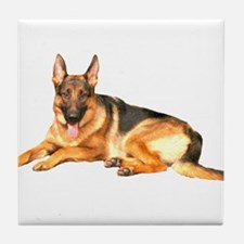 German Shepard Dog Tile Coaster