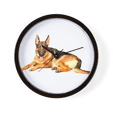 German Shepard Dog Wall Clock