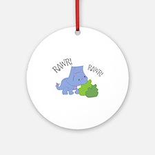 Rawr Dinosaur Ornament (Round)