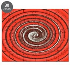 Bright Red Spiral Puzzle