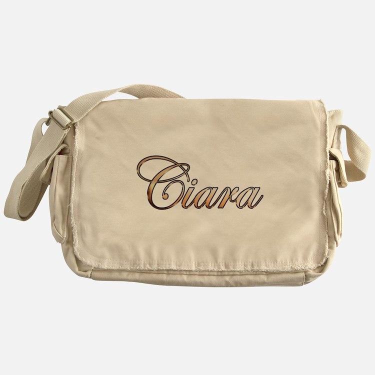 Gold Ciara Messenger Bag