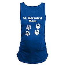 St. Bernard Mom Maternity Tank Top