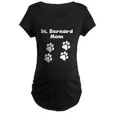 St. Bernard Mom Maternity T-Shirt