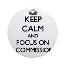 Cute Commissioner Ornament (Round)