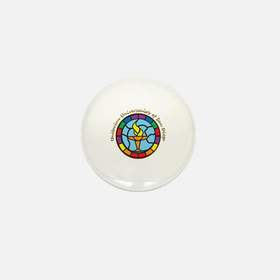 Cool Flaming chalice Mini Button