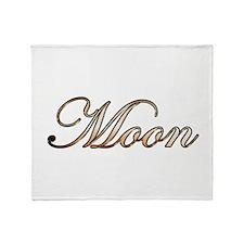 Cute Moon names Throw Blanket