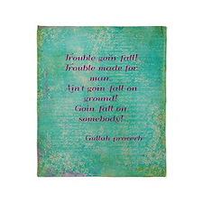 Gullah Proverb Throw Blanket
