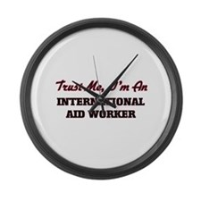 Unique Aid worker Large Wall Clock