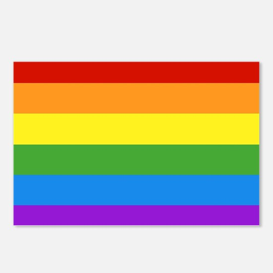 Cute Gay pride Postcards (Package of 8)