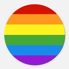 Cute Gay pride Round Car Magnet
