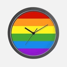 Cute Gay pride Wall Clock